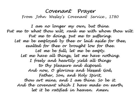 methodist prayer wesley covenant prayer wesley