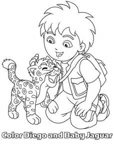 baby jaguar love diego in go diego go coloring page netart