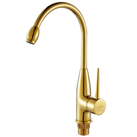 Gold Kitchen Faucet When The Bathroom Faucet Antique Copper Faucet And Cold Continental Gold Gilded