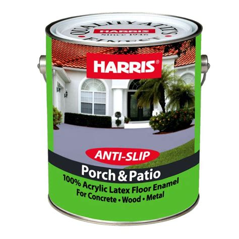 harris porch patio  gal latex battleship gray floor