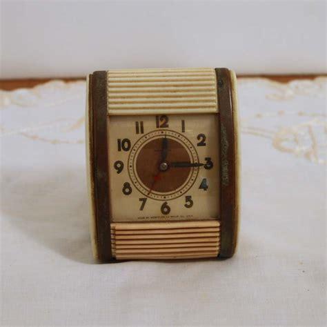 vintage clock westclox travel alarm clock time traveler