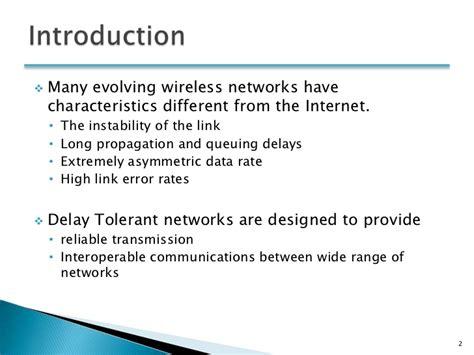 Delay Tolerant Network Research Paper by Delay Tolerant Network Presentation