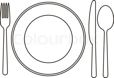 Modern Flatware by Late Knife Spoon And Fork Stock Vector Colourbox