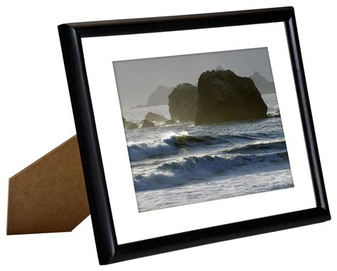 Frame And Matting by 5 Quot X 7 Quot Black Picture Frames Removable Mat Board