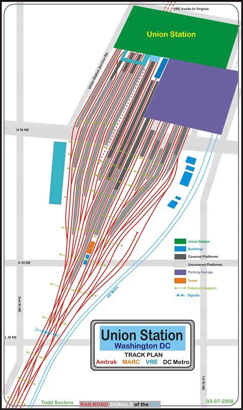 washington dc map union station railfan guide to washington dc union station