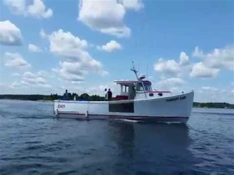 wesmac lobster boats fpt c13 powered wesmac 46 super wide youtube