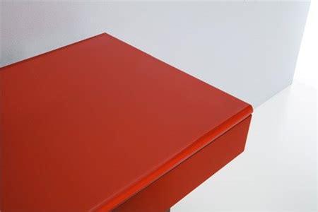mensola rossa top in cristallo rosso