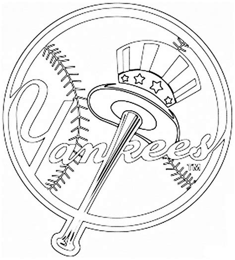 New York Yankees Coloring Pages pics of new york yankees logo coloring home