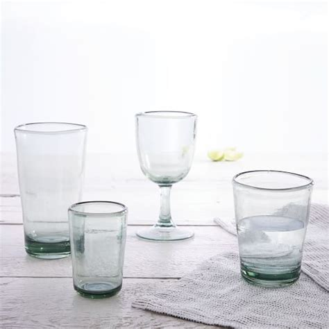 plastic barware acrylic glassware recycled green set of 4 west elm
