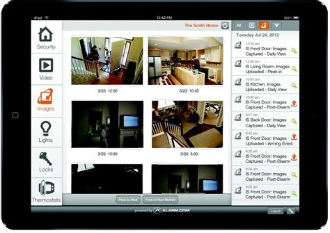 smart home monitoring home security application app