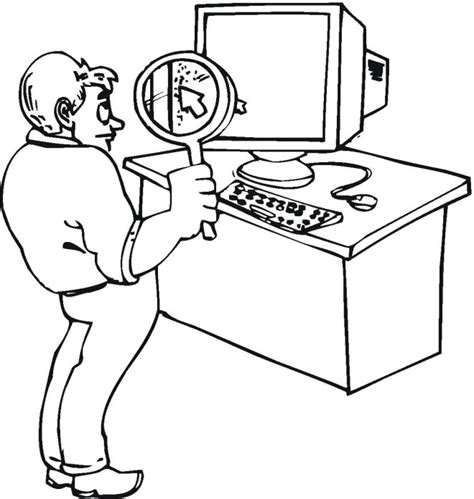 information technology pages coloring pages