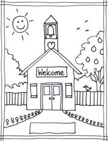 school coloring pages schoolhouse coloring sheet stushie