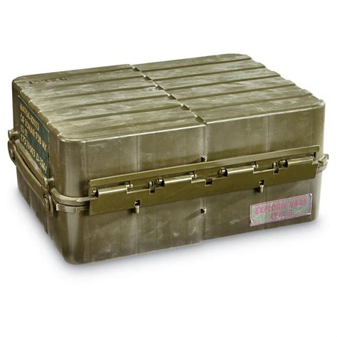 Ammo Storage Container - norwegian military surplus ammo storage box waterproof used 652583 ammo boxes amp cans at