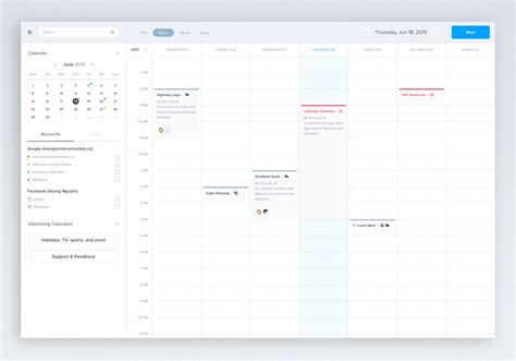 Desktop Calendar App Desktop Calendar App Ui Sketch Resource For Sketch Image