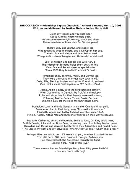 tribute to church ushers