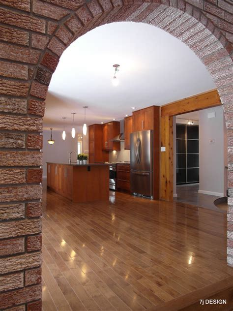 arch design inside home brick arch house traditional kitchen ottawa by 7j