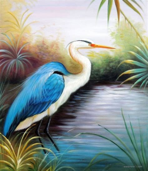 50 beautiful bird paintings and works for your inspiration