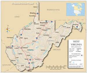 Virginia On Us Map by Us State Maps West Virginia Map West Virginia Map With