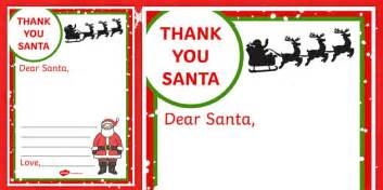 letter to santa template eyfs thank you letter to santa writing frame santa letter thank