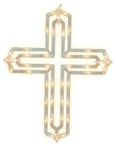 impact innovations christmas lighted window decoration impact innovations lighted window decoration cross
