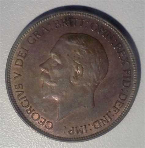 Values Of British One Penny Copper Coins With Queen   1929 george v british copper one penny coin ebay