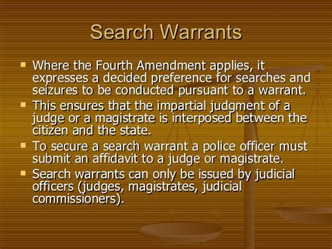 Who Issues Search Warrants Ch 15 Search And Seizure