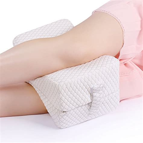 Ergonomic Pillow For Side Sleepers by Nursal Memory Foam Knee Pillow For Sciatica Relief Back