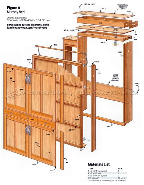 how to make a murphy bed build murphy bed woodarchivist