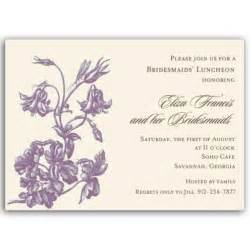 lunch invites floral purple on bridal luncheon invitations paperstyle