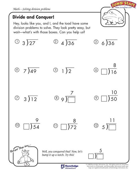 4th Grade Math Worksheets Free by Math Division And 4th Grade Math On