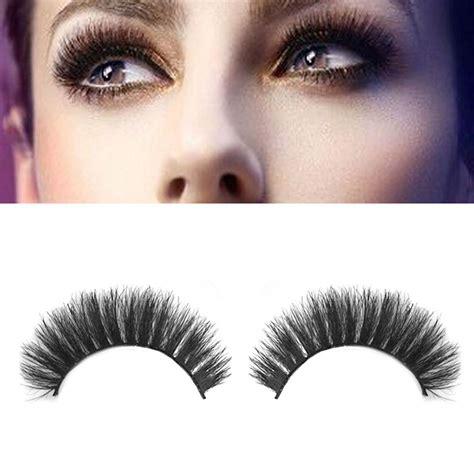 Eyelashes Real Hair 1 100 real hair thick false eyelashes makeup