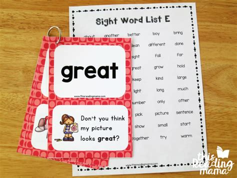 word cards for sentences third grade sight word sentence cards this reading