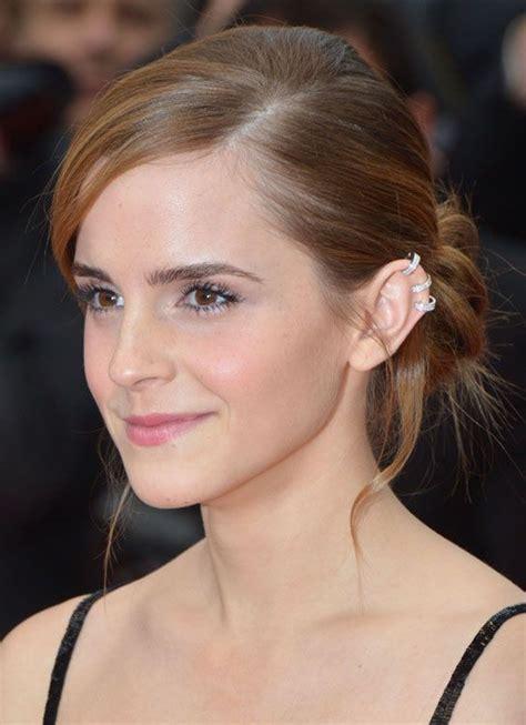 emma watson ear piercing miss chopin sterling silver four loop ear cuffs misschopin