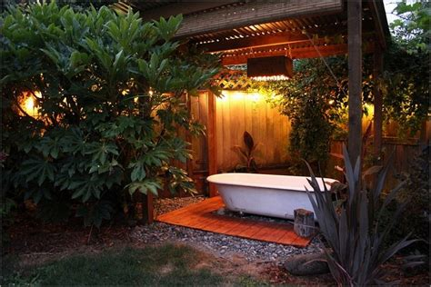 outdoor bathtub ideas outdoor spa ideas for your home inspiration and ideas
