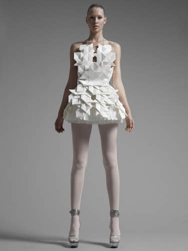 Origami In Fashion - paper dresses