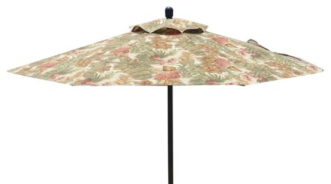 Patio Umbrella Made In Usa 7 Market Style Floral Foliage Umbrella Beautiful And