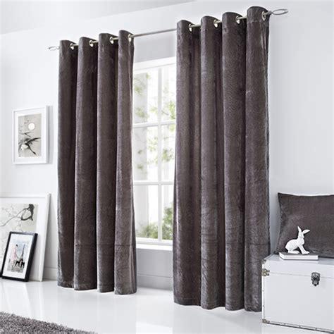 grey velour curtains velvet velour eyelet ring top curtains silver grey