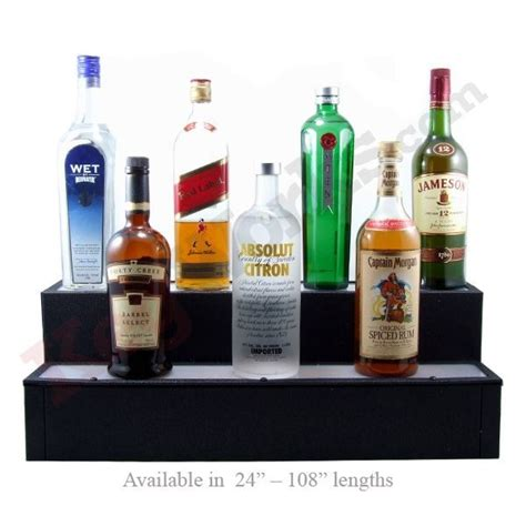 Liquor Bottle Shelves 2 Tier Lighted Liquor Bottle Bar Shelves