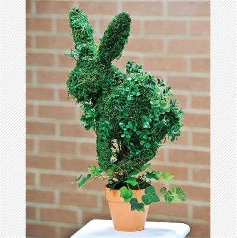 rabbit topiary rabbit topiary with pot the most wonderful time of the