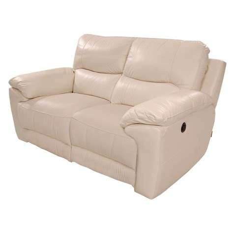 cream leather loveseat macklein cream power motion leather loveseat el dorado
