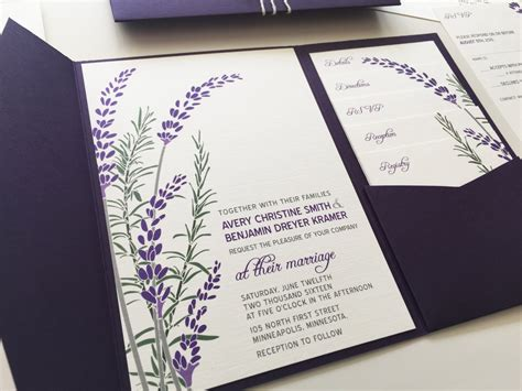 Wedding Invitations Lavender by Lavender Wedding Invitations