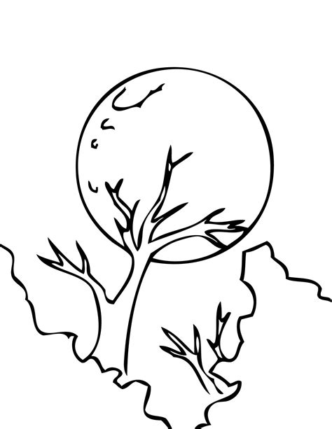coloring page of full moon moon coloring page handipoints