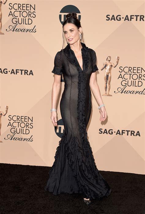 Awards Galas Crowd Pre Globes Weekend by Sag Awards Fug Carpet Demi In Zac Posen Go Fug