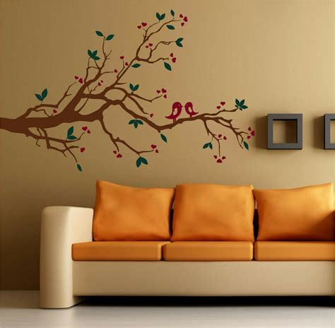 kissing love birds   branch vinyl wall decal decor ebay