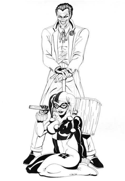harley quinn and joker coloring pages the joker belongs to dc for the original character and