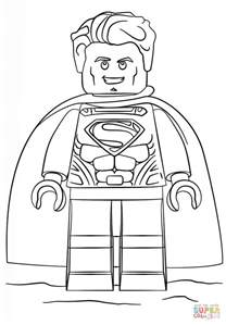Superman Lego Coloring Pages lego superman coloring page free printable coloring pages