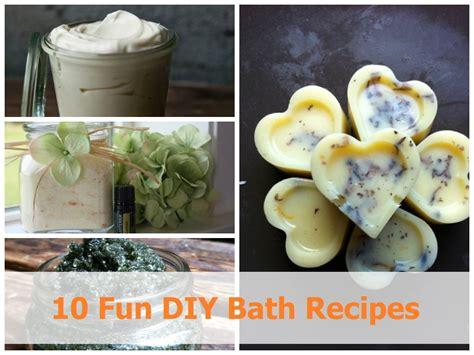 diy home recipes 10 diy bath recipes