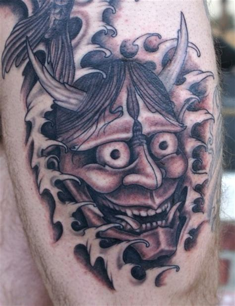 traditional black and grey japanese tattoo jeff johnson tattoo tattoos traditional asian black