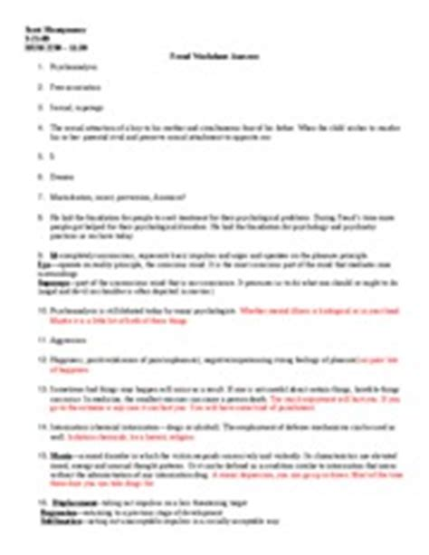 Contagion Worksheet Answers by Freud Worksheet Answers Montgomery Hum 2230 11 30 Freud Worksheet Answers 1