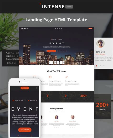 Event Planner Html5 Template Event Landing Page Template Free